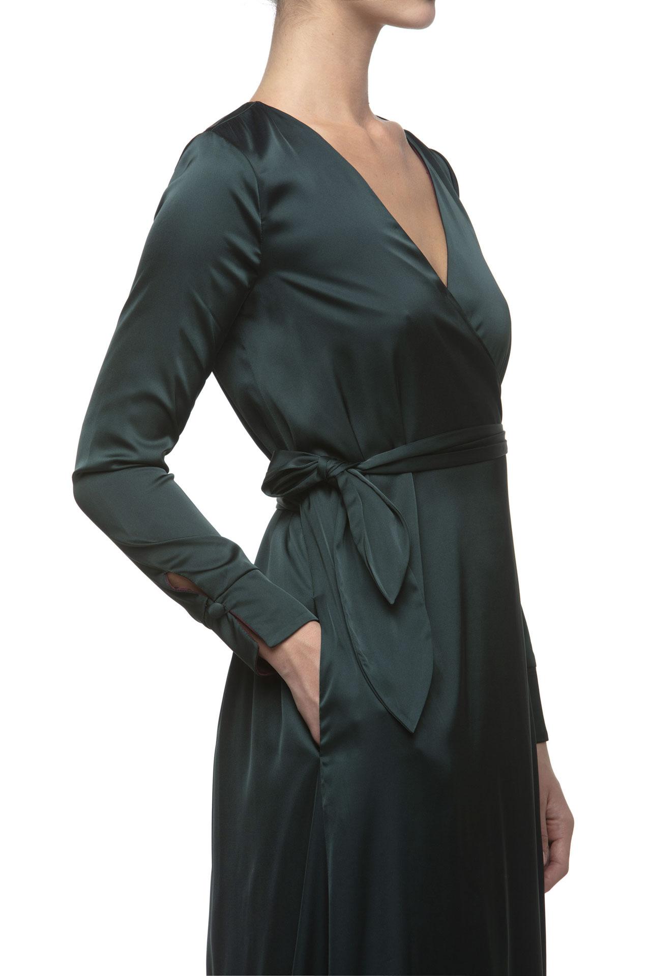 WRAP DRESS DOUBLE FACE
